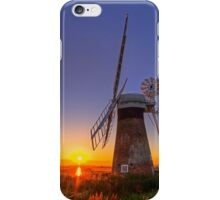 Sunset at Thurne mill iPhone Case/Skin