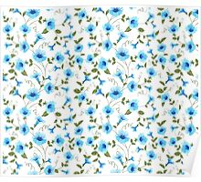 Floral seamless pattern for textile fabric Poster
