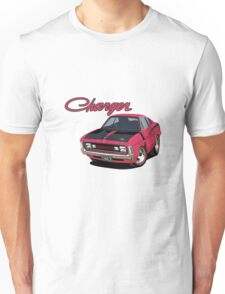 E38 Valiant Charger in Magenta Car toon, Charlie Unisex T-Shirt