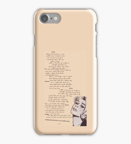 Christian Leave Hope Lyrics Print iPhone Case/Skin