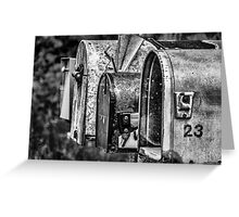 Mail Boxes in Baddeck Greeting Card