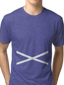 Team Skull Design Tri-blend T-Shirt
