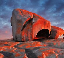 Remarkable Rocks Sunrise, Kangaroo Island, South Australia by Michael Boniwell