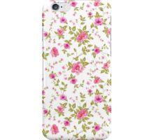 Elegant seamless peony pattern on white background iPhone Case/Skin