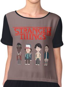 Stranger Things 8-Bit Chiffon Top