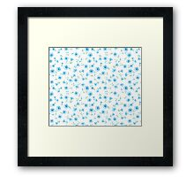 Chicory seamless pattern on white background Framed Print