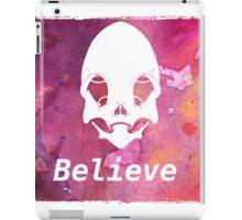 alien skull belive  iPad Case/Skin