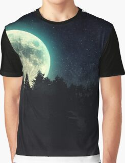 Moon and Dark Forest Graphic T-Shirt