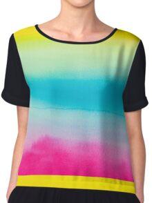 Beautiful Watercolor Rainbow Chiffon Top