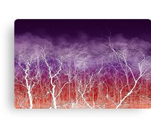 Sunset White Trees Canvas Print