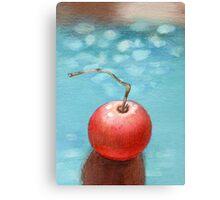 Hand drawn red tomato Canvas Print