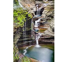 Rainbow Falls and the Triple Cascade Photographic Print