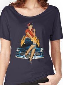 Mercury Rising Pin Up Design Women's Relaxed Fit T-Shirt