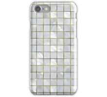 Natural Mother of Pearl Silver and Gold Tiled Mosaic Grid iPhone Case/Skin
