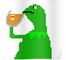 None Of My Business Meme Frog Poster