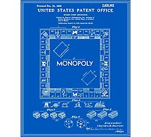 Monopoly Patent - Blueprint Photographic Print