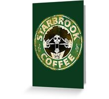 Starbrook Coffee Grunge Greeting Card