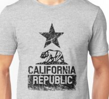 California Republic Flag Grunge Distessed Style Unisex T-Shirt