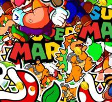 Super Mario Collage Sticker