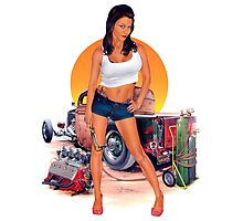 Knucklebuster Pin Up Design Photographic Print