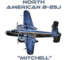 "North American B-25J ""Mitchell"" - Red Bull Photographic Print"