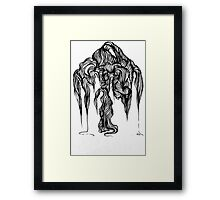 Micron brush pen drawing Framed Print
