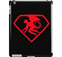 Red Super Monkey Symbol iPad Case/Skin
