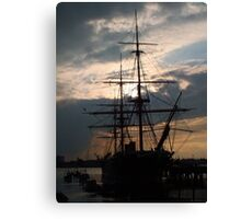 Sunset Warrior Canvas Print