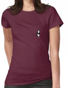 Tuxedo Cat in Wine Womens Fitted T-Shirt