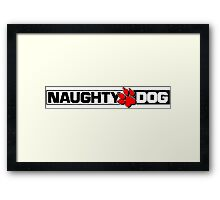 Naughty Dog Framed Print
