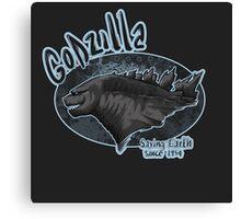 Godzilla - saving Earth since 1945 Canvas Print