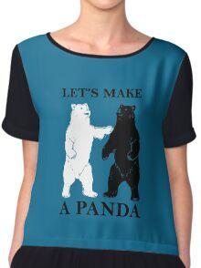 Let's Make A Panda Chiffon Top