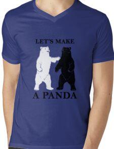 Let's Make A Panda Mens V-Neck T-Shirt