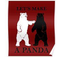 Let's Make A Panda Poster
