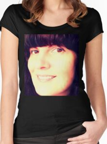 Self smiles Women's Fitted Scoop T-Shirt