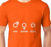 Woman Man Geek Unisex T-Shirt