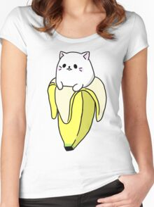 """Bana NYA!"" - Bananya Women's Fitted Scoop T-Shirt"