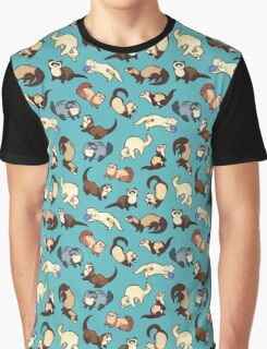 cat snakes in blue Graphic T-Shirt