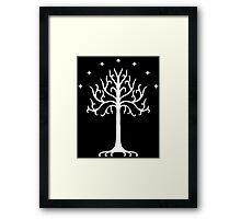 The White Tree of Gondor (white) Framed Print