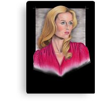 Gillian Anderson Portrait Canvas Print
