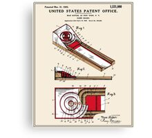 Skee Ball Patent - Colour Canvas Print