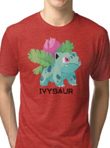 Low Poly Pokemon - 002 - Ivysaur Tri-blend T-Shirt