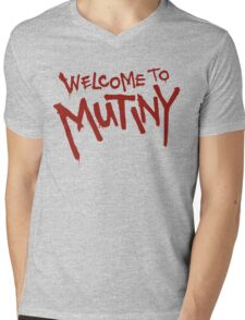 Welcome To Mutiny Mens V-Neck T-Shirt