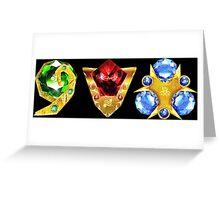 The 3 Spiritual Stones Ocarina of Time Greeting Card