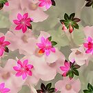 Flowers on Flowers - Pink and Green by Dana Roper