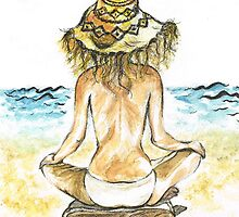 Beach Yoga by Teresa White