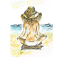 Beach Yoga Photographic Print