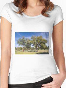 Cork oak, Monfrague Women's Fitted Scoop T-Shirt