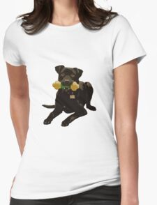 Throw the Dog a Bone! Womens Fitted T-Shirt