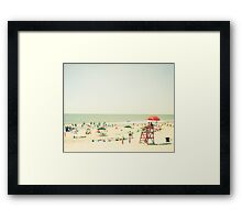 One Summer Day at the Beach Framed Print